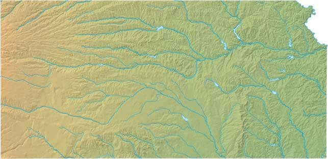Kansas relief map